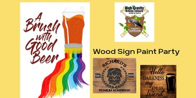 Wood Sign Paint Party