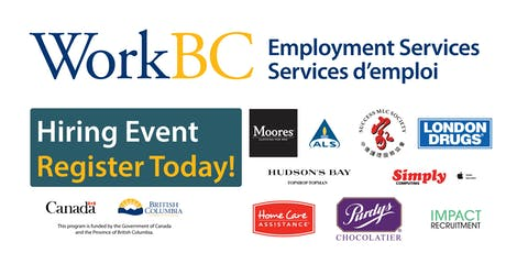 Vancouver NE WorkBC Job Fair - Careers in the IT, Retail, Health Industry tickets