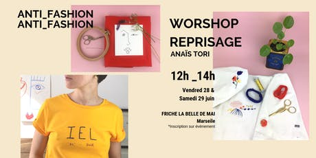Workshop Broderie Reprisage d'or et coloré billets