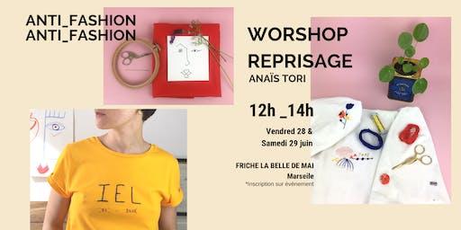 Workshop Broderie Reprisage d'or et coloré