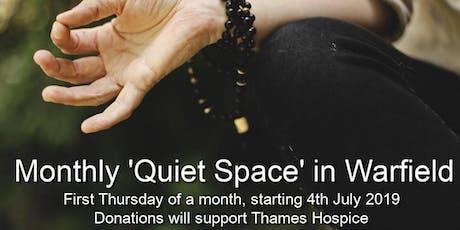Monthly 'Quiet Space' in Warfield tickets