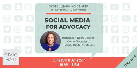 Social Media for Advocacy (Nonprofit & Government) tickets