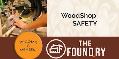September Woodshop Safety Class tickets