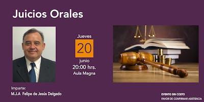 """Conferencia: """"Juicios Orales"""""""