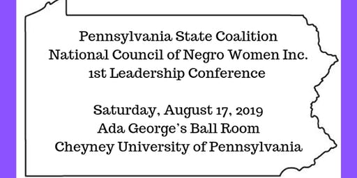 PA State Coalition NCNW Inc. 1st Leadership Conference