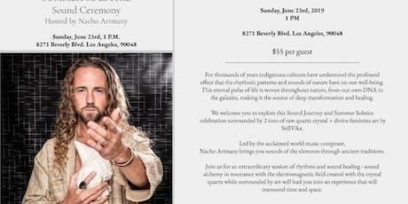 Summer Solstice Sound Ceremony by Nacho Arimany tickets