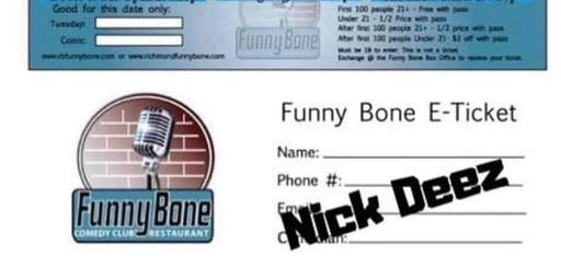 Free tickets to VB Funny Bone October 1st