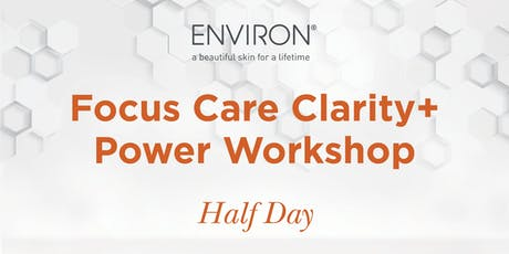QLD Environ - Power of Skincare – Focus Care Clarity + Power Workshop tickets