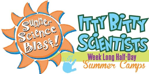 July 29- August 2, Maker Madness Itty Bitty Scientist Weeklong Half-Day Camp