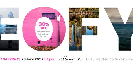 Illuminate Gallery - EOFY sale! One day only! tickets