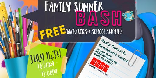 Oasis Community Backpack Giveaway
