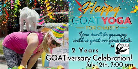 Happy Goat Yoga-For Charity: 2 Year GOATiversary Party! at Martin House Brewing tickets