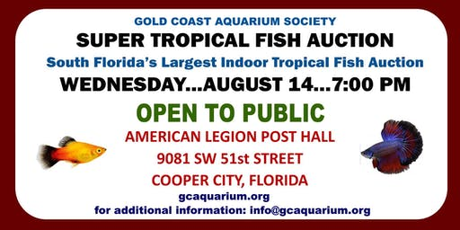 Gold Coast Aquarium Society Super Auction