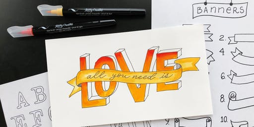 Colorful Hand Lettering with Kelly Creates