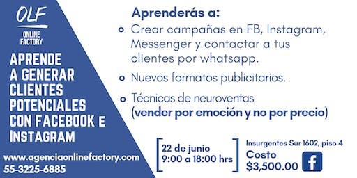 Aprende a generar Clientes potenciales con facebook e instagram