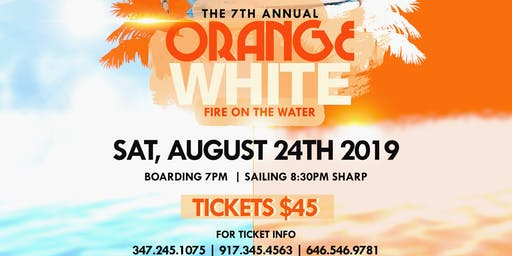 ORANGE & WHITE BOAT RIDE (FIRE ON THE WATER)