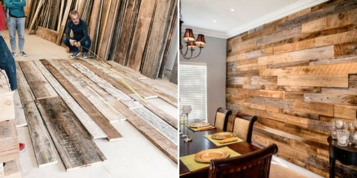 Reclaimed Wood Accent Wall Demo (Free!)