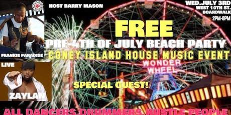 Frankie Paradise Live Show Zaylan Host Barry Mason Pre 4th Event tickets