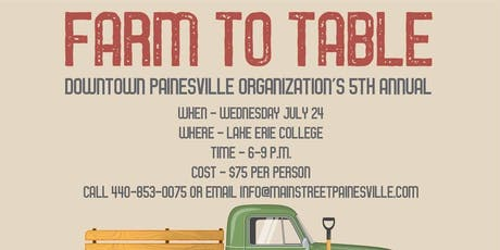 DPO Farm to Table tickets