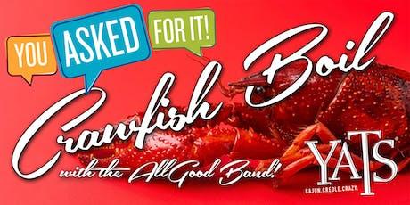 Yats Crawfish Boil tickets