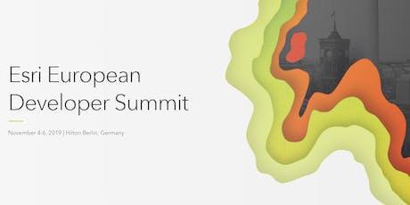 2019 Esri European Developer Summit  Tickets