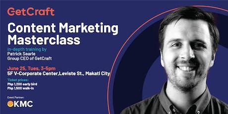 Content Marketing Masterclass tickets
