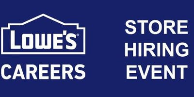 Lowe's Store Hiring Event