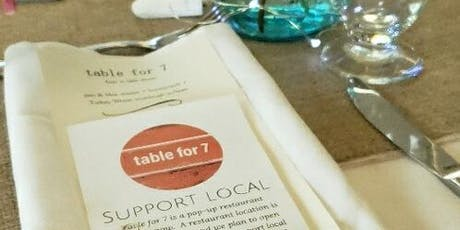 Table for 7-farm to table pop-up restaurant night tickets