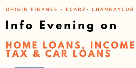 Info Evening on Home Loans, Income Tax & Car Loans tickets