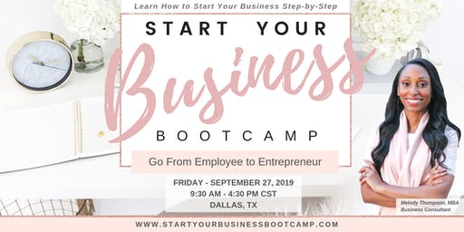 Start Your Business Bootcamp - Afternoon Session