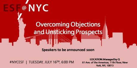 Overcoming Objections and Unsticking Prospects tickets