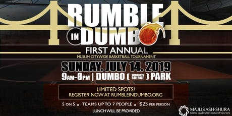 Rumble in Dumbo: First Annual Citywide Muslim Basketball Tournament tickets