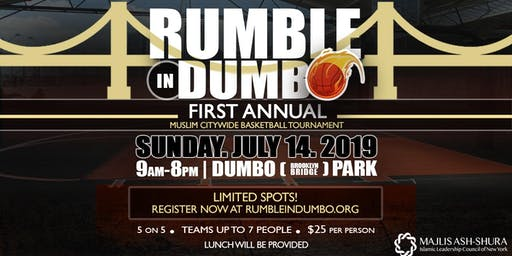 Rumble in Dumbo: First Annual Citywide Muslim Basketball Tournament