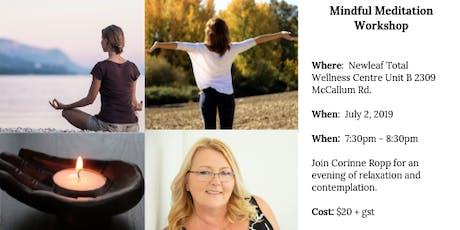 Mindful Meditation Class tickets
