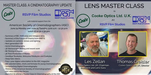 Lens Masterclass and Cinematography update by Cooke and RSVP Film Studios