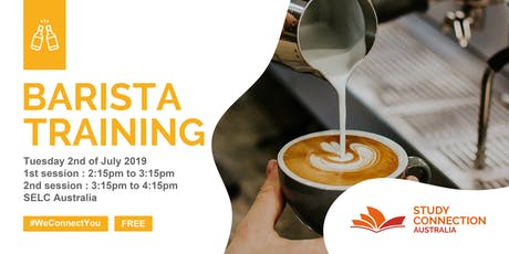 FREE BARISTA TRAINING WITH STUDY CONNECTION tickets