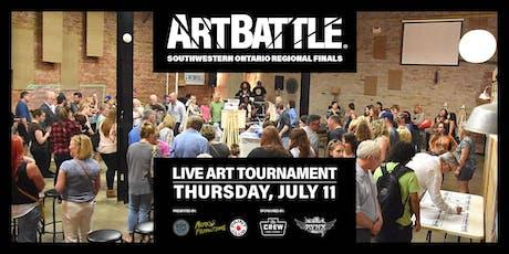 Art Battle Southwestern Ontario Regional Finals - July 11, 2019 tickets