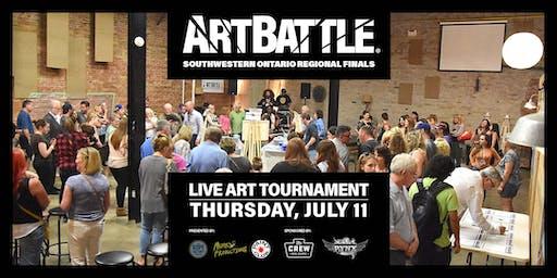 Art Battle Southwestern Ontario Regional Finals - July 11, 2019