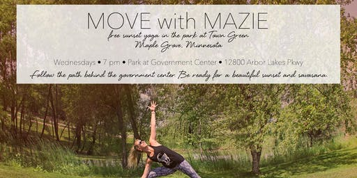Free Sunset Yoga in the park at Town Green