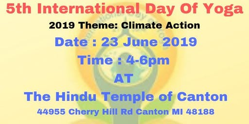 International Day of Yoga - Hindu Temple of Canton (Free Event)