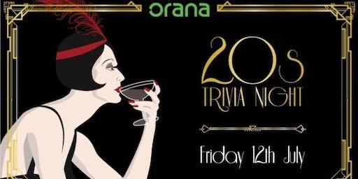 Orana 20s Trivia Night