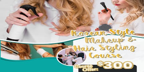 Korean Style Makeup & Hair Styling Course tickets
