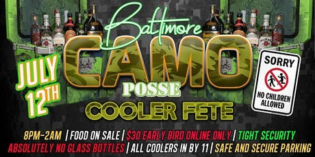 Baltimore Camo Cooler Fete  tickets