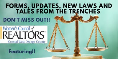 Forms Updates, New Laws and Tales From The Trenches