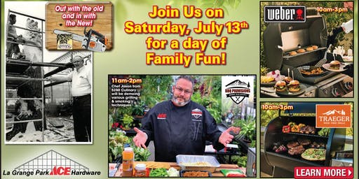 Family Fun Day: Carving Our New Papa Bear with Grilling Demos & Chef Jason
