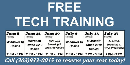 FREE TECH TRAINING- Safe Web Browsing & Virus Prevention