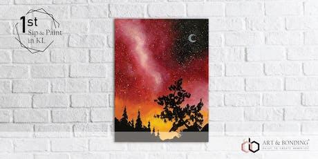 Sip & Paint Night : Red Galaxy Sky tickets