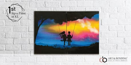 Sip & Paint Date Night (For Couple/BFF/Family) : Fantasy Swing tickets