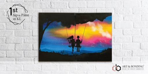 Sip & Paint Date Night (For Couple/BFF/Family) : Fantasy Swing