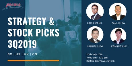 Strategy and Stock Picks 3Q2019 tickets